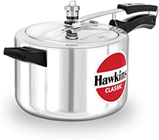 HAWKINS Classic CL50 5-Liter New Improved Aluminum Pressure Cooker, Small, Silver