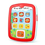 Zooawa Baby Learning Tablet, Early Development Educational Learning Tablet Toy, Voice Music Alphabet Electronic Interactive Pretend Toy Tablet for Kids Toddler Infants - Colorful -