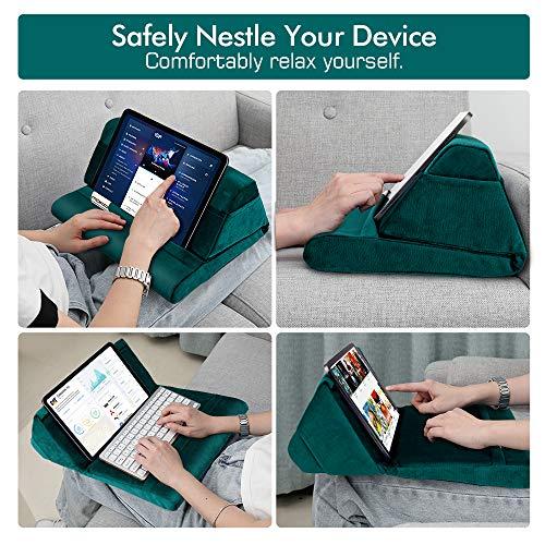 MoKo Tablet Kissen Ständer, Samt Kissen Halter für Tablet bis zu 11