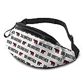 Riñonera Deportivo Bolso Cintura Cinturón Ajustable Running Belt Bolsa de Correr Oso Plaid Bear Hermano Boys