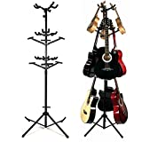 Luvay 9 Multi-Stand for Guitar, Ukulele, Bass, 3-Tier Standing Rack Holder Display - Vertical Style