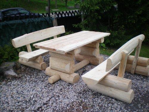8 Personen Holzbalken Garten Sitzgruppe Bild 3*