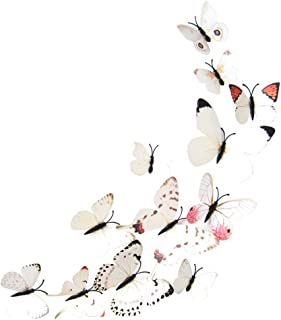 YWLINK 12pcs Sticker Art Design Decal Wall Stickers Home Decoraciones 3D Mariposa