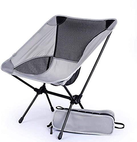 WJXBoos Silla de camping plegable, silla de playa ligera, sillas portátiles compactas y duraderas para playa, camping, mochilero, festival al aire libre (color: verde + soporte negro)