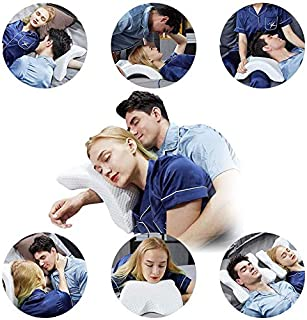 Side Sleeper Pillows for Neck and Shoulder Pain,Contour Shredded Memory Foam Pillow,Multifunctional Pillow as Cervical Pillow,Cuddle Pillow Arm Pillow,Couple Pillow,Neck Support Pillow for Sleeping