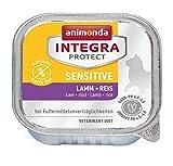 animonda Integra Protect Katze Sensitive,  Diät Katzenfutter,  Nassfutter bei Futtermittelallergie, Lamm + Reis, 16 x 100 g