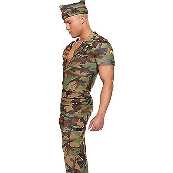 Top Totty Disfraz de Sargento Militar de Camuflaje para Hombre ...