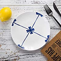 食器プレートプレートチャージャーディープウィング30cm-6パック|20インチディナープレートマットセラミック食器シンプルディナープレート丼家庭用食器S