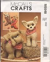 McCall's Crafts 裁縫パターン 5548 - 製造に - パーラーペット チワワ ブルドッグ - ストッキングとぬいぐるみ