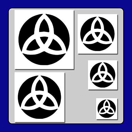 Set of 5 Triquetra Trinity Knots Stencils Templates 1 Through 5 inches! Irish/Celtic/Wiccan