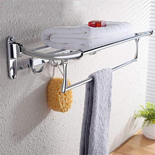 Juizs Handdoekhouder zonder boren roestvrij stalen handdoekhouder met ophangbare vouwbare badkamer staande wandmontage badkamer plank handdoekhouder