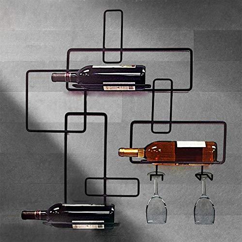 Moderno Hierro Montaje de Pared 3 Botellero de Vino Almacenaje Accesorio de Bar Sujeta-Botellas