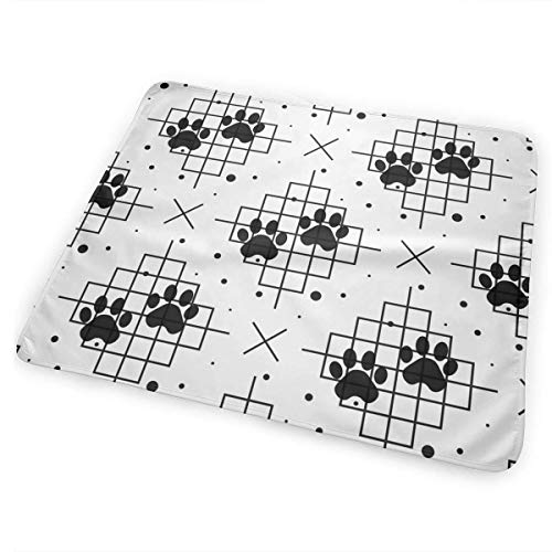Bikofhd Changing Pad Paw Print Seamless with Line Texture Traces Portable Diaper Changing Pad - for Baby Showers Changing Mats and Reusable Detachable Wipe Able Mat- Unisex