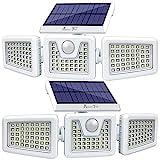 Solar Lights Outdoor -2 Pack, AmeriTop 800LM 128 LED 6500K Motion...