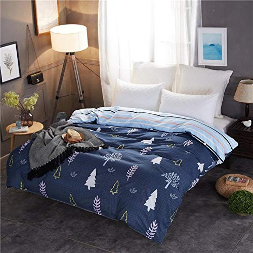 Miwaimao Single-Piece Quilt Quilt University Student Dormitory With Single Double,Blue Walk,240x220cm