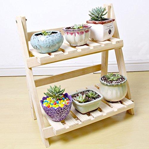 Fu Man Li Trading Company Multi-chair en bois balcon salon intérieur multi-couche pliant pots de fleurs en bois installation gratuite support de fleurs A+