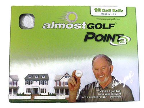 Almost Point3 10 Golf Balls (White) Restricted Flight Practice Balls