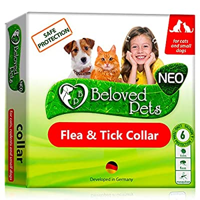 Flea and Tick Collar for Dogs and Cats - Natural Flea Treatment for Pets Kittens Puppies - Flea Prevention Up to 6 Months -Non-Allergic Repellent - Immediate Flea Control (Small)