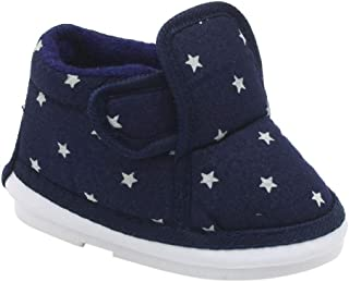 CHIU Boys and Girls Stars Printed Musical Booties in Blue Colour