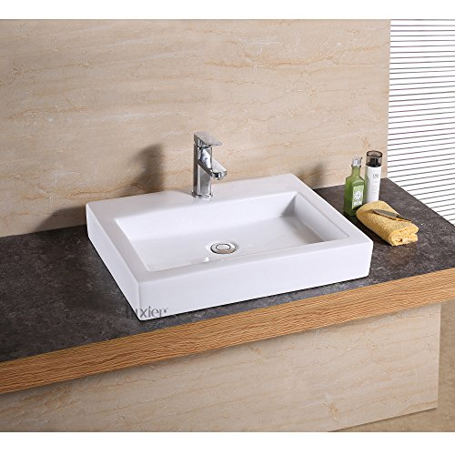 Luxier CS-021-F Bathroom Porcelain Ceramic Vessel Vanity Sink Art Basin
