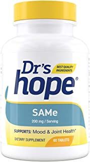Dr's Hope SAM-e (S-Adenosylmethionine) 200mg - Boost Serotonin for Mood Support - Improve Joint Function - Non-GMO, Gluten Free, No Artificial Additives Made in USA - 60 Enteric Coated Tablets