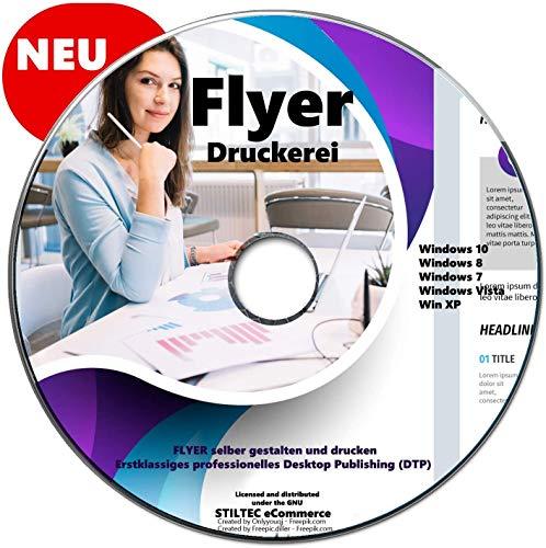 Flyer Druckerei professionelle FLYER selber gestalten und drucken für Windows NEU auf DVD