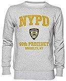Capzy 99th Precinct - Brooklyn NY Department Gris Jersey Sudadera Unisexo Hombre Mujer Tamaño L Grey Unisex Jumper Size L