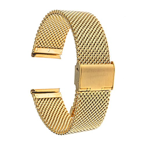 ZQSM Correa milanesa de 10 mm-24 mm para Timex Adventure Weekend pulsera de acero inoxidable para hombres y mujeres