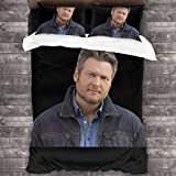 Ouskfh Blake Shelton Four Seasons Duvet Cover Set Quilt Cover (1 Duvet Cover 2 Pillowcases) 3 Piece Bedding Set 86' X70