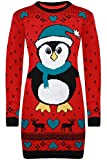 Langer Pullover, Pinguin mit Herzen