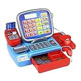 shentaotao Caja registradora con un Peso de escáner Juguete Escala electrónica Kid Real de la calculadora de múltiples Funciones del Juego del Juguete para el Cabrito