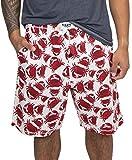 Lazy One Pajama Shorts for Men, Men's Separate Bottoms, Cotton Loungewear, Seafood, Ocean, Crustacean, Animal (Crabs, Large)