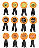 Halloween Costume Contest Award Ribbons - Party Decorations Trick or Treat Prize Buttons Pins Supplies Ornaments