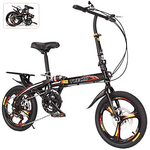 NANANA 16/20zoll Klappräder, Camping Klapprad mit Tragegriff, Damen Faltrad Mini Einzelgeschwindigkeit Bike Studenten Fahrrad, Folding City Bike, 2 Größen,20inch