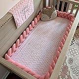 cojin antivuelco bebe,chichoneras cuna,reductor de cuna,protector cuna,barrera cama,2M bebé recién nacido cuna parachoques cama parachoques nudo almohada cojín trenza cama de bebé habitación de bebé