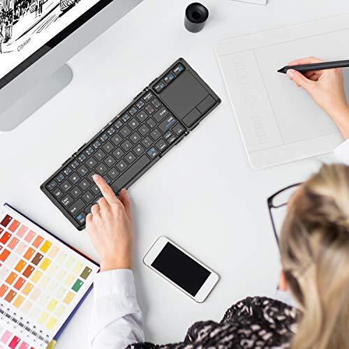 513vYGfic1L-折り畳み式フルキーボードの「iClever  IC-BK05」を購入したのでレビュー!小さくなるのはやっぱ便利です。
