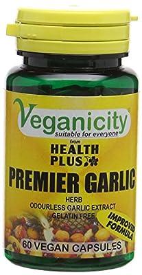 Veganicity Premier Garlic 500mg Digestive Health Supplement - 60 Capsules