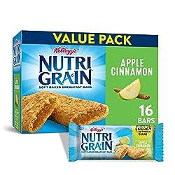 Kellogg's Nutri-Grain Soft Baked Apple Cinnamon Breakfast Bars - School Lunchbox Snacks, Individual