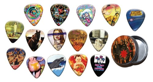 Red Hot Chili Peppers 15 X Chitarra Picks Plettri with Tin ( Gold Edition )
