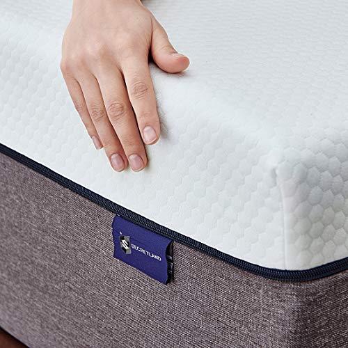 Queen Mattress, Ssecretland 10 inch Gel Memory Foam Mattress with CertiPUR-US Certified Foam (Mattress Only) Firm Feels-Bed Mattress in a Box, Queen Size