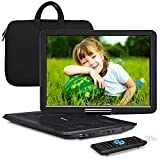 NAVISKAUTO 16' Portable DVD Player with Large Screen Free Carry Bag Rechargeable Battery Support HDMI Input, 1080P Video, Sync Screen, Last Memory, AV in & Out, Region Free, USB