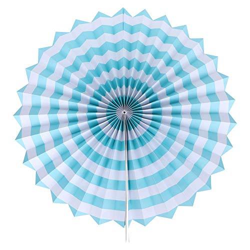Fdit 6 stuks papieren ventilator bloemendecoratie papier handwerk DIY rond patroon papier slingers decoratie voor verjaardagsfeest binnenruimte achtergrond voeding MEERWEG OPKING