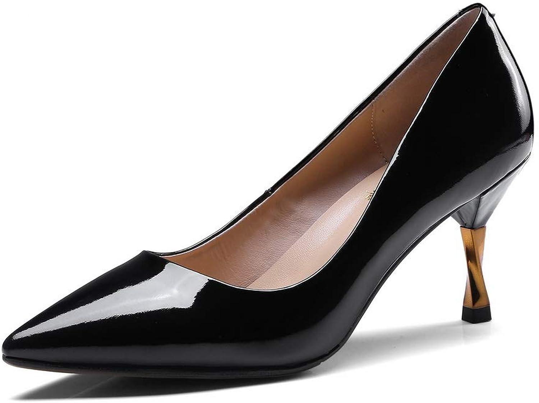 BalaMasa Womens Burnished Solid Dress Urethane Pumps shoes APL11220