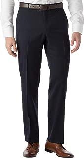 Men's Modern Fit SOHO Comfort EZE Super 120's Gabardine Trouser Pants, Navy, 33