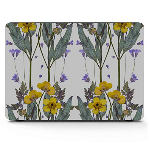 MacBook Pro Case Pressed Dried Buttercup Flowers Pattern On Suitable for MacBook Pro 13'(with CD-ROM) Case,A1278