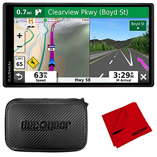 "Garmin DriveSmart 55 & Traffic 5.5"" Display GPS Navigator with 7"" EVA Case Bundle"