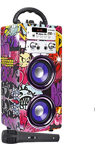 DYNASONIC (3.ª generación) - Altavoz Bluetooth Portátil con Karaoke | Radio FM y Lector USB SD...