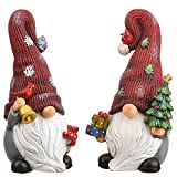 National Tree Company RAC-YM20242-1 Christmas Gnomes, 9 in, Red