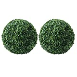 BESTOYARD Artificial Plant Topiary Ball Green Grass Decorative Balls Round Plastic Plant Ball Decoration for Wedding New Year Christmas Ceiling Garden Home Outdoor 28cm