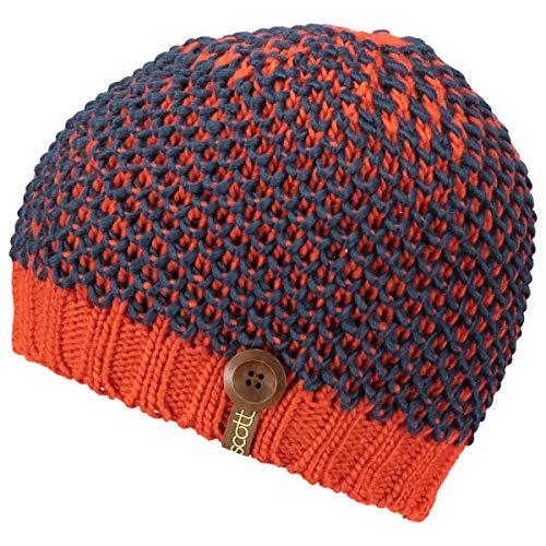 Scott W Mountain 30 Beanie Blau-Rot, Damen Kopfbedeckung, Größe One Size - Farbe Tomato Red - Denim Blue